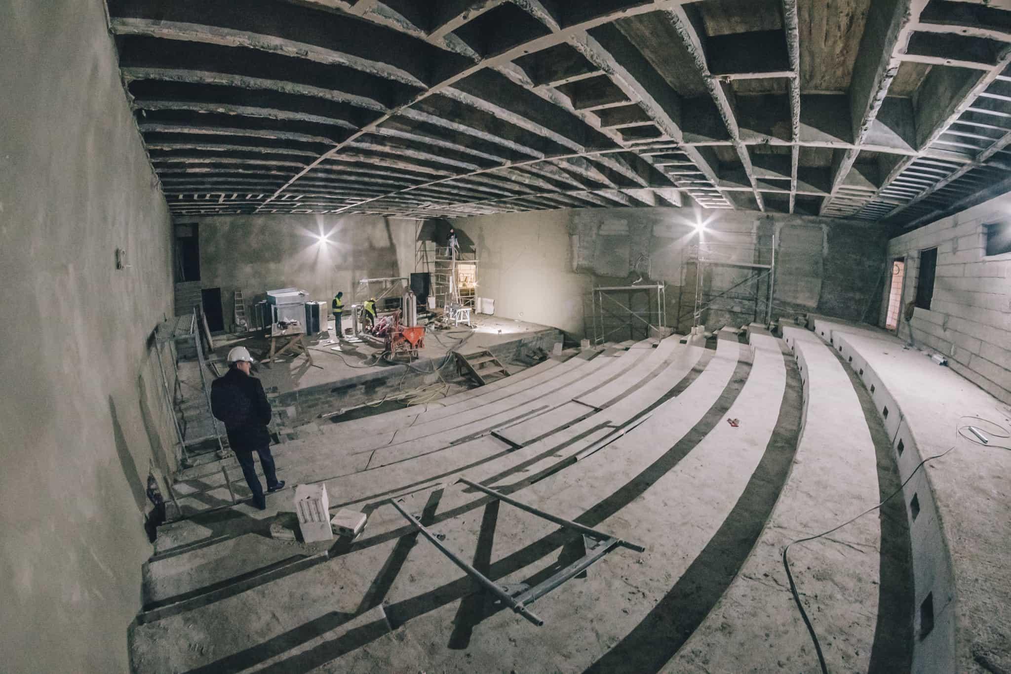 Budowa Nowej Przestrzeni Teatru Żeromskiego WDK-3