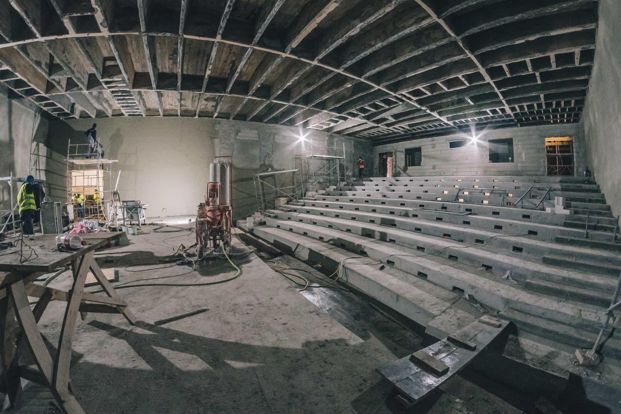Budowa Nowej Przestrzeni Teatru Żeromskiego WDK-4