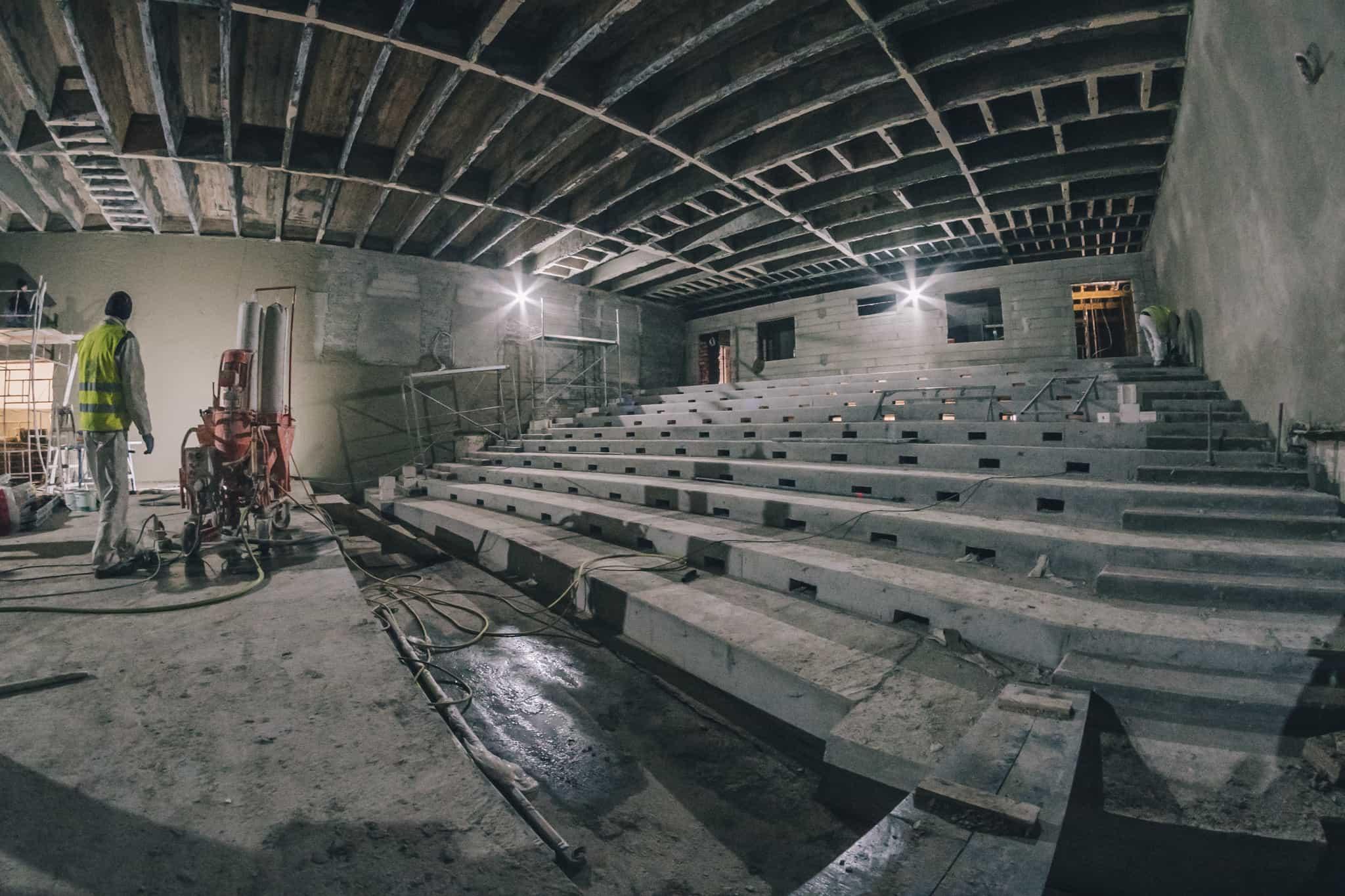 Budowa Nowej Przestrzeni Teatru Żeromskiego WDK-8